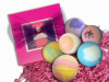 Beautiful Bath Bomb Gift Set - 6 Extra Large 4.5 oz Lush, Super Moisturizing Bath Bombs